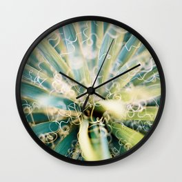 Agave is curly with her life Wall Clock