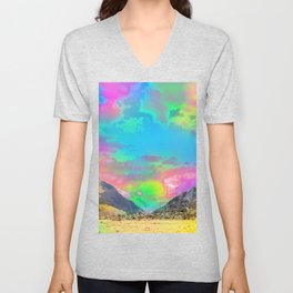 Truly High Mountains Unisex V-Neck