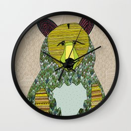 Hello, Bear Wall Clock