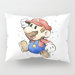 Mario Watercolor Pillow Sham