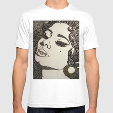 Sophia SMALL White Mens Fitted Tee