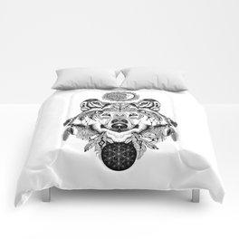 Bohemian Celestial Wolf Comforters