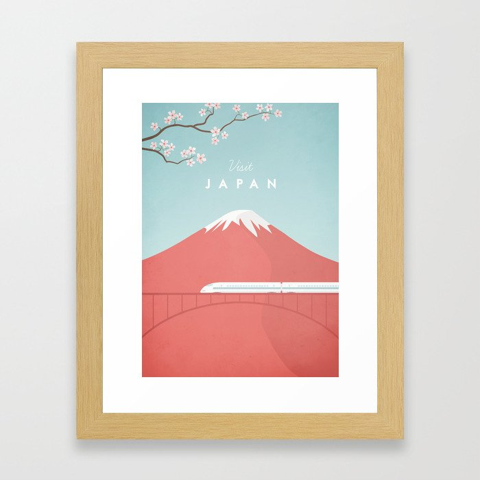 Vintage Japan Travel Poster Gerahmter Kunstdruck