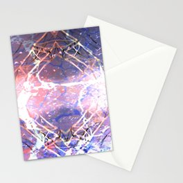 Abstract Ripple Reflection Stationery Cards