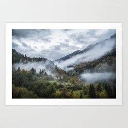 The still life in mountains Art Print