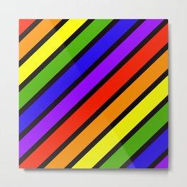 ROYGBIV Diagonal Metal Print
