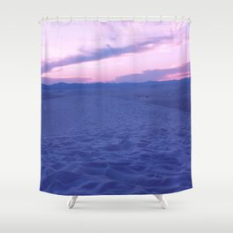 White Sands And Pink Sky Shower Curtain