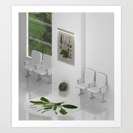 Interior #15 / Waiting Room for a Botanical Garden Art Print