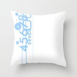 Letraset Collage 1b Throw Pillow