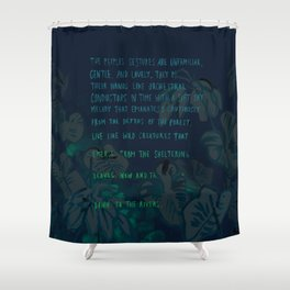 """""""Conquest of the Useless"""" by Werner Herzog Print (v. 4) Shower Curtain"""