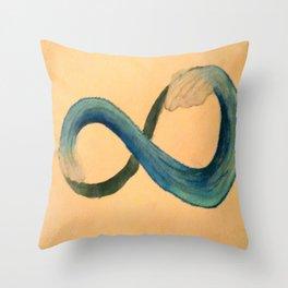 Infinite Wave Throw Pillow