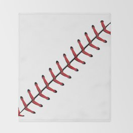 Baseball Lace line Throw Blanket