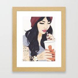 Coffee Girl Framed Art Print