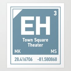 Town Square Theater element Art Print
