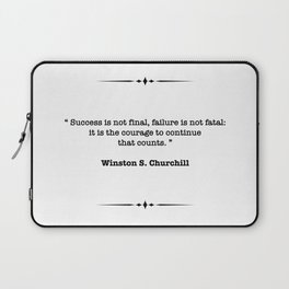 Winston Churchill Quote Laptop Sleeve