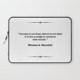 Winston Churchill Quote Laptop Sleeve