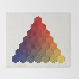 Lichtenberg-Mayer Colour Triangle (Tobiae Mayeri, Opera inedita - Vol. I, plate III), 1775, Remake Throw Blanket
