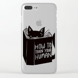 Cat Reader Advice Clear iPhone Case