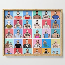 Beard Boy: Collage Serving Tray