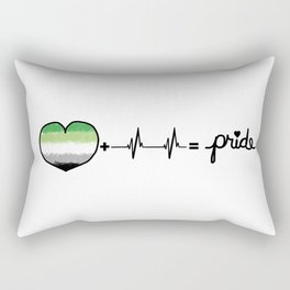 Aromantic Pride Heart + Heartbeat = Pride Design Rectangular Pillow