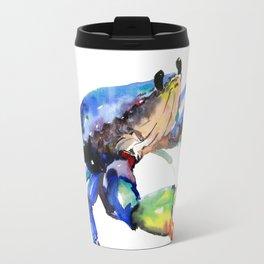 Crab, Sea World Rainbow Colors Beach Travel Mug