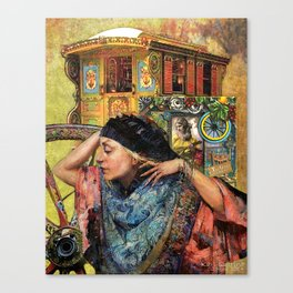 Composition 17B – 'Caravan de la Strega' (Caravan of the Gypsy Witch) Canvas Print