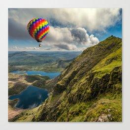Snowdon Hot Air Balloon Canvas Print