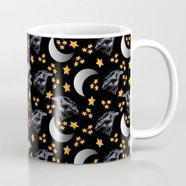 Crows, Moon, and Stars Coffee Mug