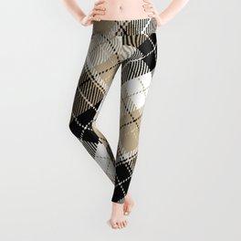 Tan and black plaid Leggings
