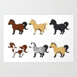 Little ponies Art Print