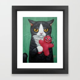 LITTLE DEVIL Framed Art Print