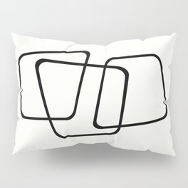 Simply Minimal - Black and white abstract Pillow Sham
