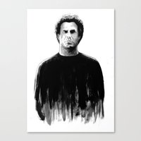 will ferrell Canvas Prints featuring DARK COMEDIANS: Will Ferrell by Zombie Rust