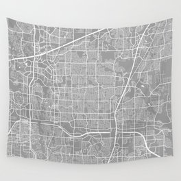 Plano map grey Wall Tapestry