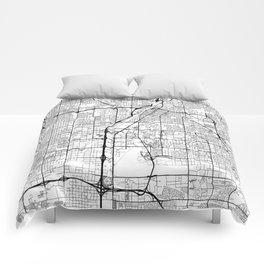 Las Vegas Map White Comforters