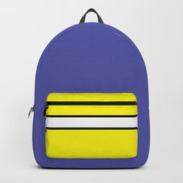 TEAM COLORS 1...Blue, black yellow cream Backpack