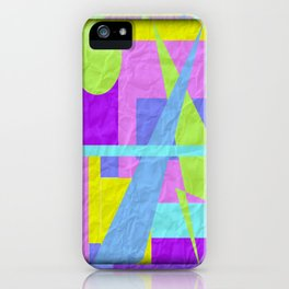Geom Shaping Bright iPhone Case