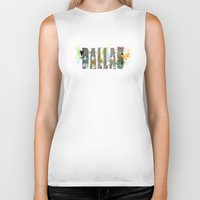 dallas Biker Tanks featuring Dallas by Tonya Doughty