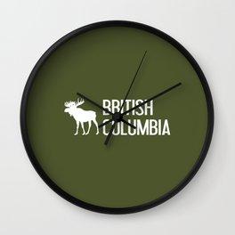 British Columbia Moose Wall Clock