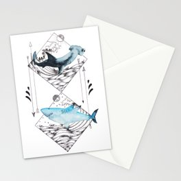 sharks on point Stationery Cards