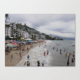 Beach Day, Puerto Vallarta Canvas Print