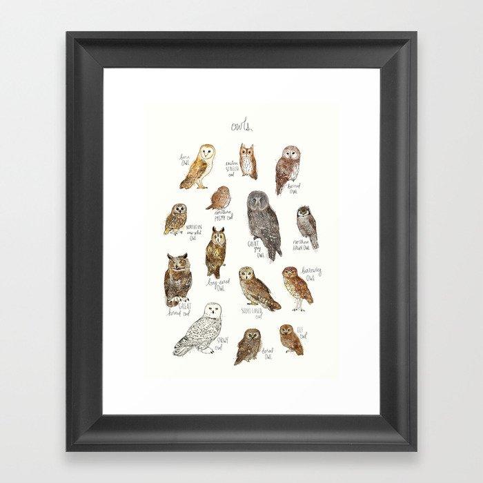 Owls Gerahmter Kunstdruck