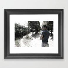 The alley Framed Art Print