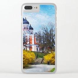 Tallinn art 4 #tallinn #city Clear iPhone Case