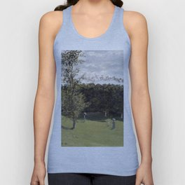 1870-Claude Monet-Train in the Countryside-50 x 65 Unisex Tank Top