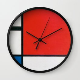 Mondrian's Composition II in Red, Blue, and Yellow (High Resolution) Wall Clock