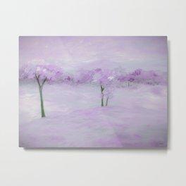 Purple Landscape with Trees Metal Print