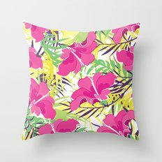 Tropic flowers Throw Pillow