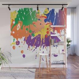 Colourful Paint splash Wall Mural