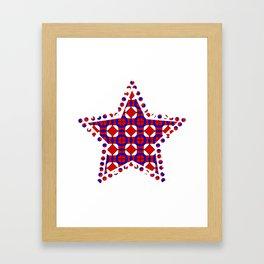 Red White and Blue Framed Art Print